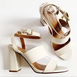 NEW✨COACH Kaye Leather Block Heel Sandal Sz 10